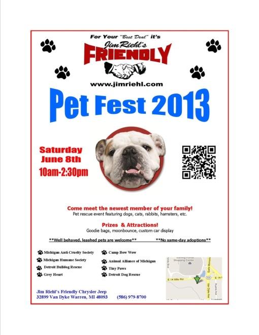 Pet Fest 2013 Flyer