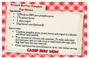 Recipe Card-peanut butter pumpkin pupsicles