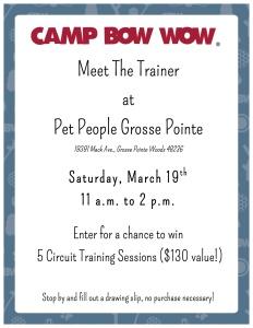 meet the trainer flyer
